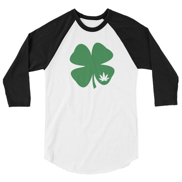 Irish Shamrock Green Clover Weed Leaf St. Patrick's Day Baseball Shirt - Magic Leaf Tees