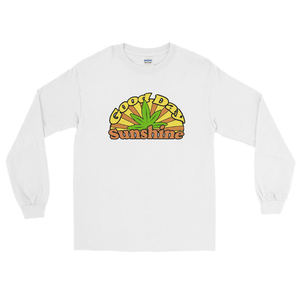 Good Day Sunshine Retro Hippie 420 Long Sleeve T-Shirt - Magic Leaf Tees