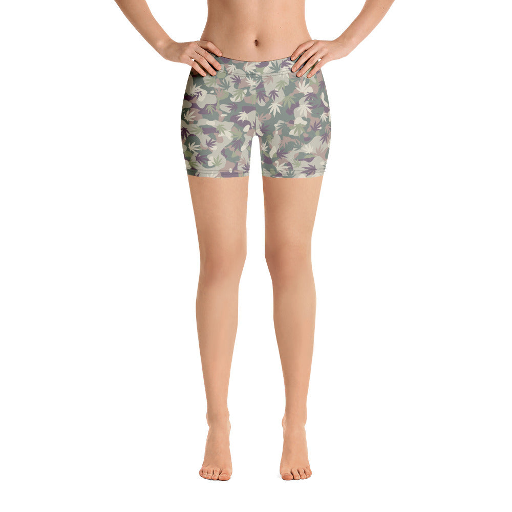 US Army OCP Camo Cannabis Leaves Shorts - Magic Leaf Tees