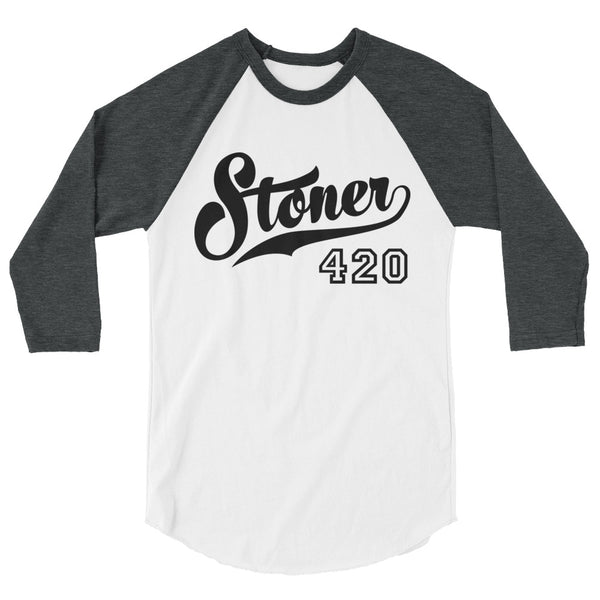 Stoner 420 Cannabis Raglan - Magic Leaf Tees