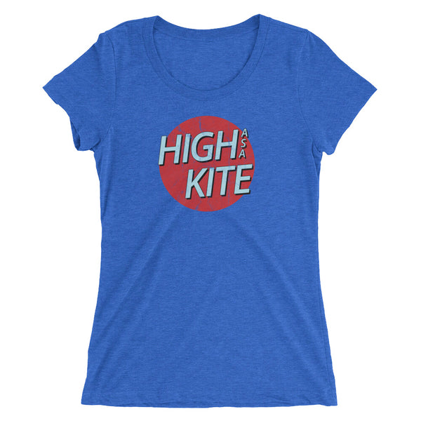 High As A Kite Women's Funny 420 T-Shirt - Magic Leaf Tees
