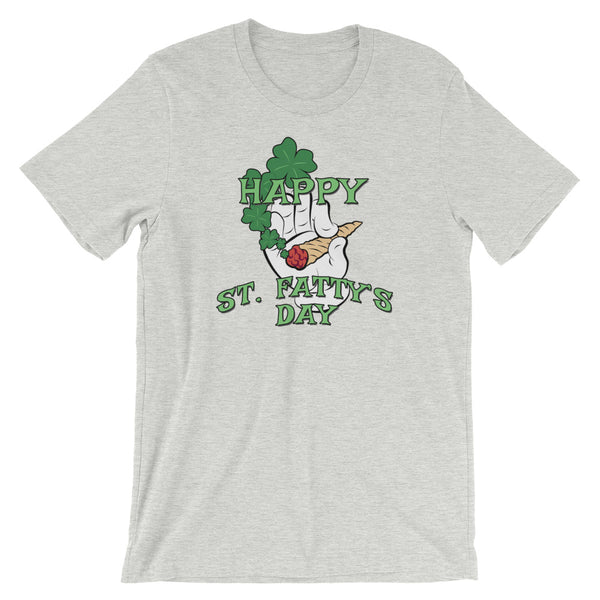 Happy St. Fatty's Day Funny St Patrick's Day T-Shirt - Magic Leaf Tees