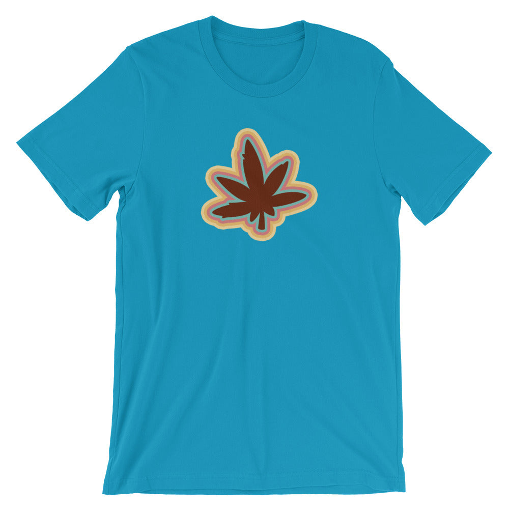 Retro 70's Cannabis Leaf T-Shirt - Magic Leaf Tees