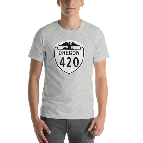 Vintage Oregon State Highway 420 T-Shirt - Magic Leaf Tees