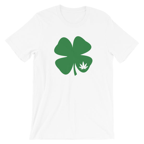 Irish Shamrock Green Clover Weed Leaf St. Patrick's Day T-Shirt - Magic Leaf Tees