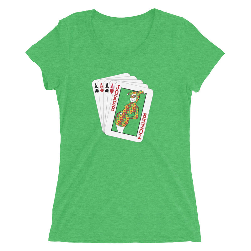 Joker Toker 420 Women's T-Shirt - Magic Leaf Tees