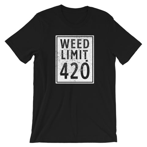 Weed Limit 420 T-Shirt - Magic Leaf Tees