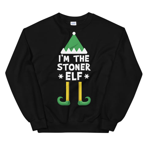I'm The Stoner Elf Cannabis Christmas Sweatshirt