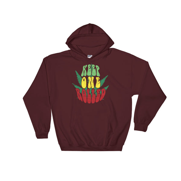 Keep One Rolled Stoner Hoodie - Magic Leaf Tees