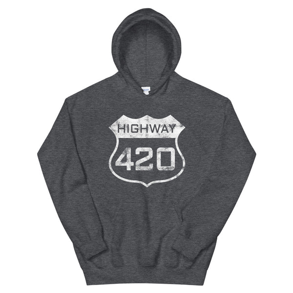 Highway 420 Weed Hoodie - Magic Leaf Tees