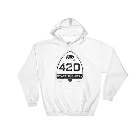 California Highway 420 Hoodie - Magic Leaf Tees