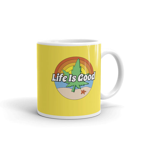 Life Is Good Beach Weed Mug | Magic Leaf Tees