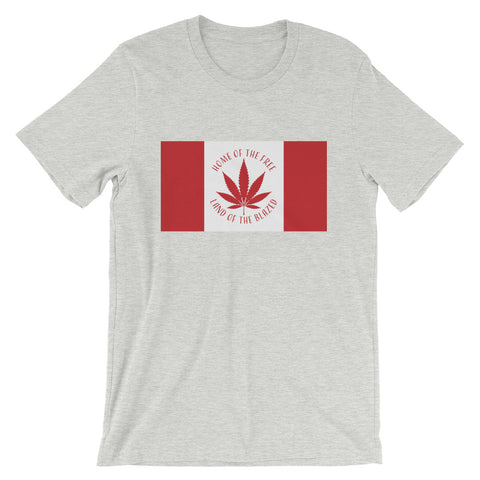 Canada Blazed Flag T-Shirt - Magic Leaf Tees