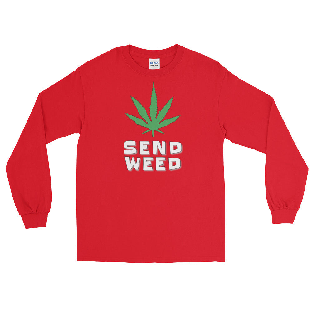 Send Weed Long Sleeve T-Shirt - Magic Leaf Tees