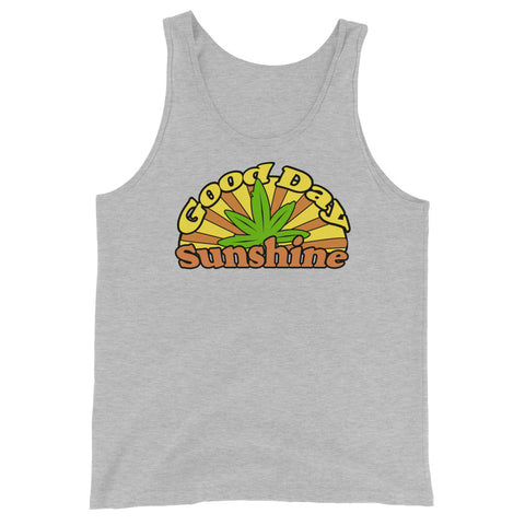 Good Day Sunshine Retro 420 Unisex Tank Top - Magic Leaf Tees