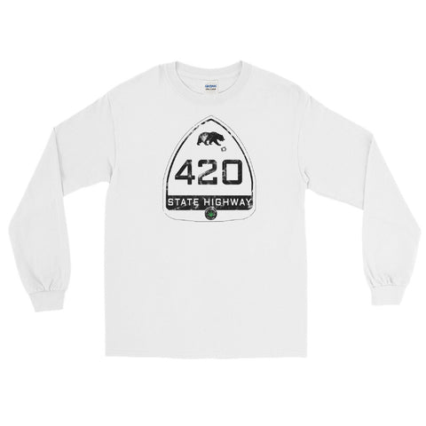 California State Highway 420 Long-Sleeve T-Shirt - Magic Leaf Tees