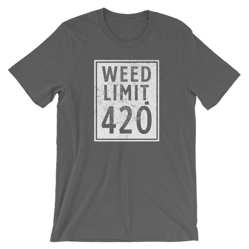 Weed Limit 420 Funny Cannabis T-Shirt - Magic Leaf Tees