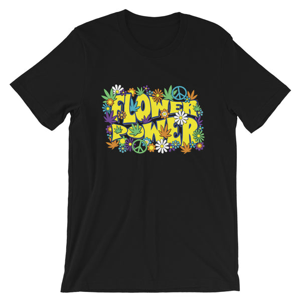 Flower Power Hippie Retro 60's 420 T-Shirt - Magic Leaf Tees