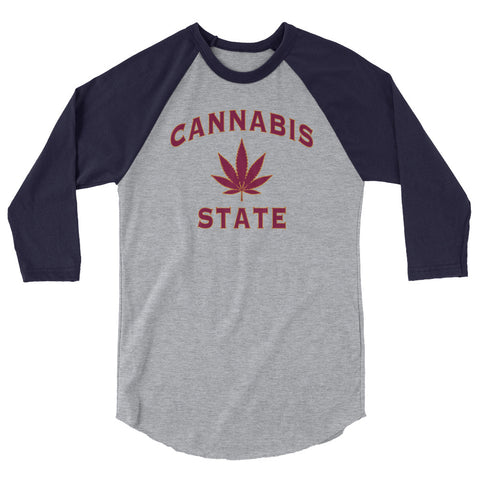 Cannabis State Raglan - Magic Leaf Tees
