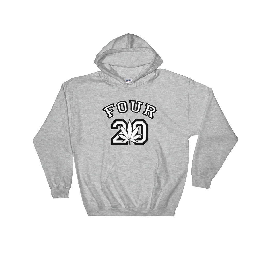 Four 20 College 420 Hoodie - Magic Leaf Tees