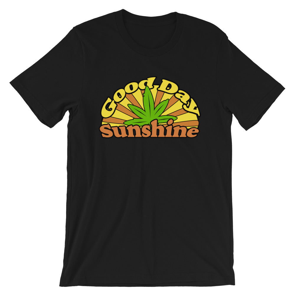 Good Day Sunshine Retro 420 T-Shirt - Magic Leaf Tees