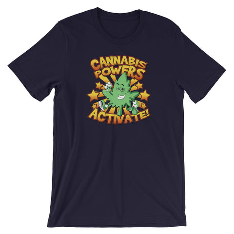Cannabis Powers Activate Weed Leaf T-Shirt - Magic Leaf Tees