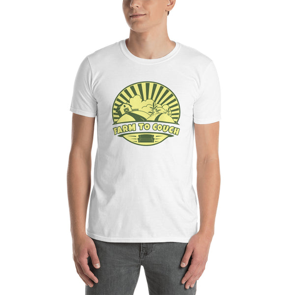 Farm To Couch Funny Weed Farmer T-Shirt - Magic Leaf Tees