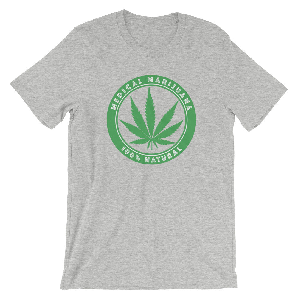 Medical Marijuana 100% Natural T-Shirt - Magic Leaf Tees
