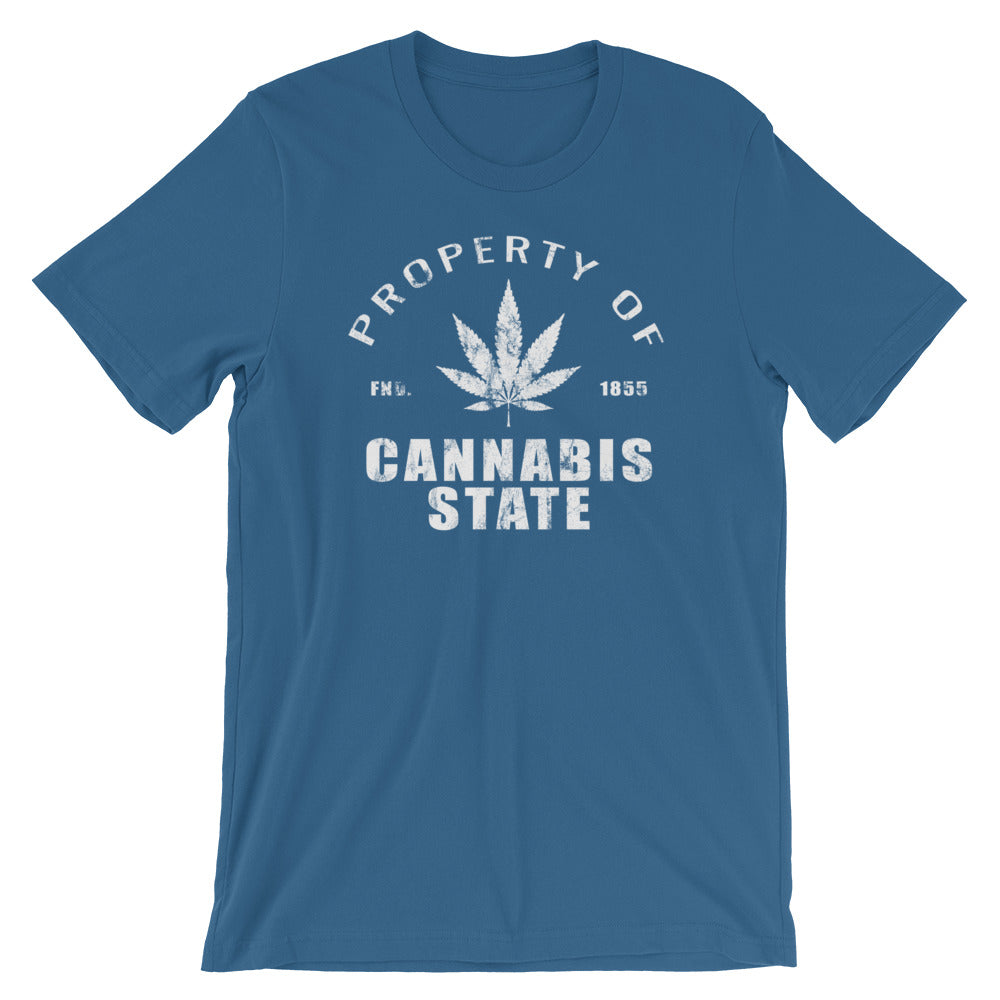 Property Of Cannabis State T-Shirt - Magic Leaf Tees