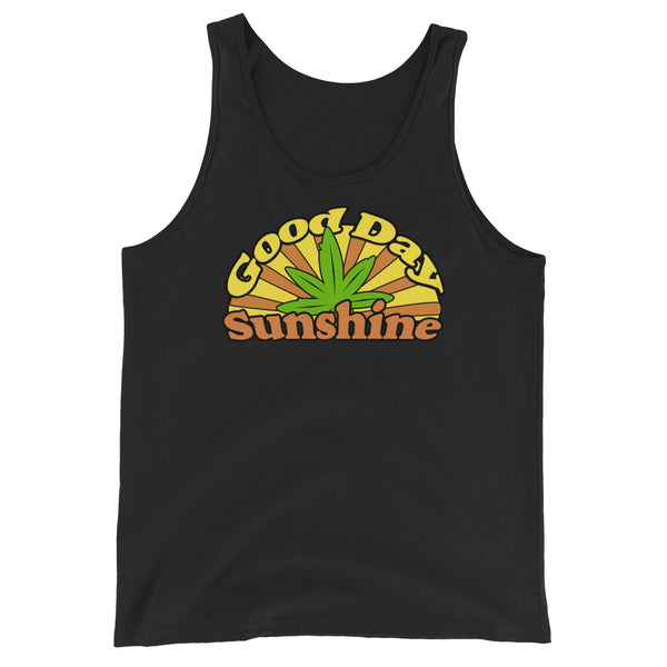 Good Day Sunshine Retro Hippie 420 Unisex Tank Top - Magic Leaf Tees