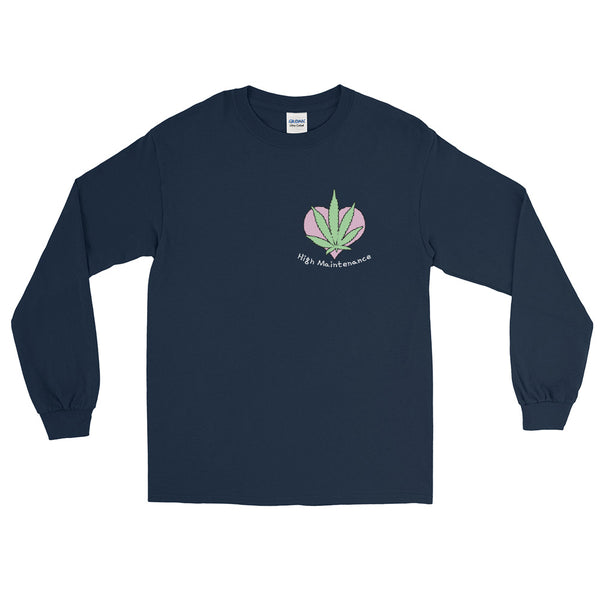 High Maintenance Cute Cannabis Long Sleeve T-Shirt - Magic Leaf Tees