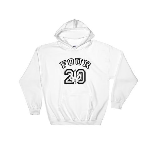 Four 20 College 420 Hooded Sweatshirt - Magic Leaf Tees