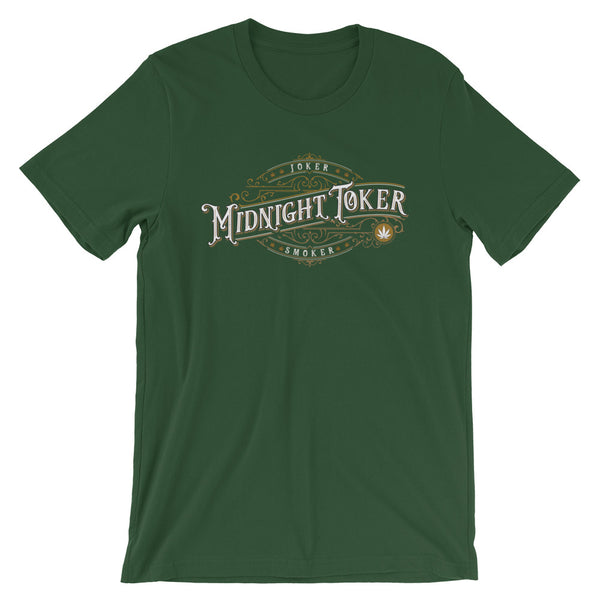 Vintage Joker Smoker Midnight Toker Cannabis T-Shirt - Magic Leaf Tees