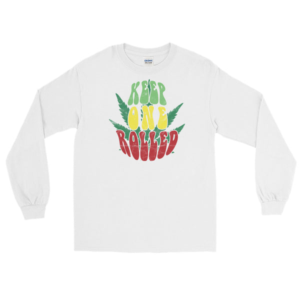 Keep One Rolled Long Sleeve T-Shirt - Magic Leaf Tees