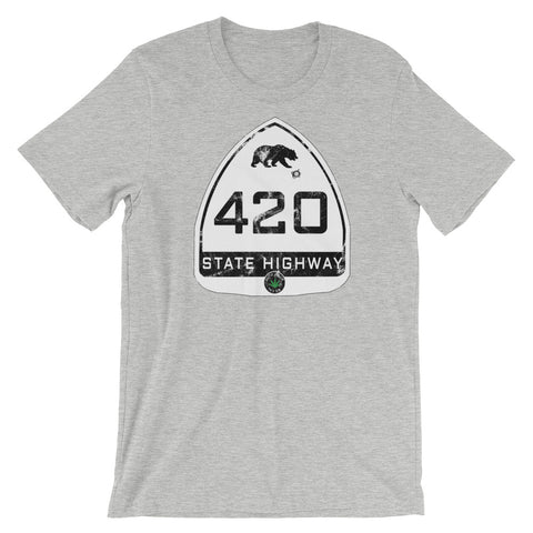 Vintage California Highway 420 T-Shirt - Magic Leaf Tees