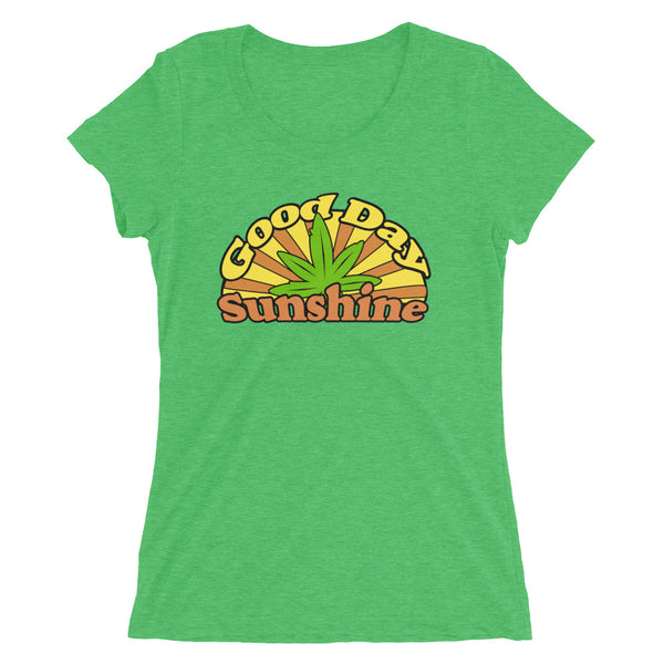 Good Day Sunshine Retro 420 Women's T-Shirt - Magic Leaf Tees