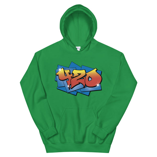 420 Graffiti Kelly Green Hoodie - Magic Leaf Tees