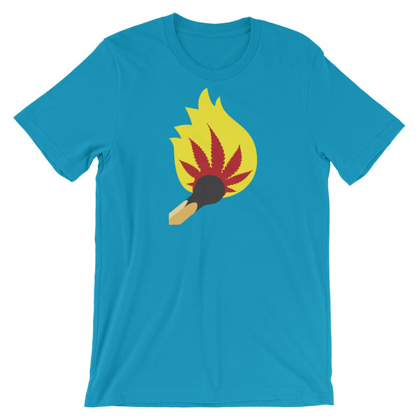 Fire It Up Marijuana T-Shirt - Magic Leaf Tees
