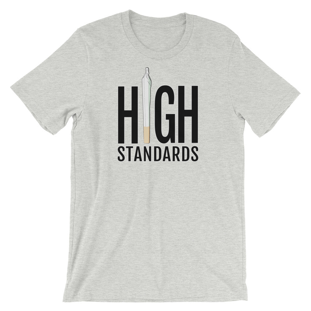 High Standards Funny Cannabis T-Shirt - Magic Leaf Tees