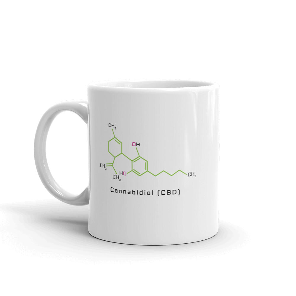 Cannabidiol CBD Coffee Mug - Magic Leaf Tees