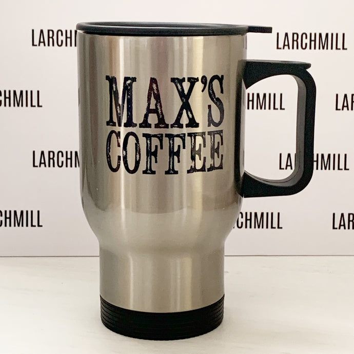 Travel Mug (silver or white, any design)