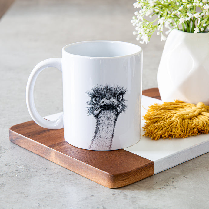 Ostrich Mug | Unique Design | Charity Listing