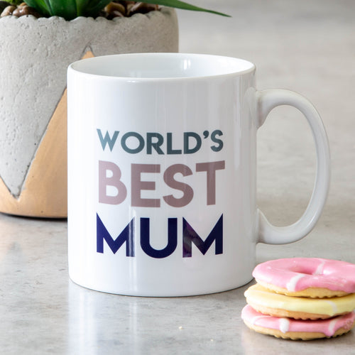 World's Best Mum Mam Dad Brother Sister Grandma Grandad Mug