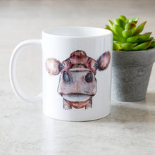 Load image into Gallery viewer, watercolour cow mug