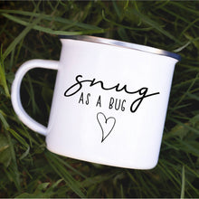 Load image into Gallery viewer, Snug as a Bug enamel mug