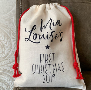 First Christmas Sack