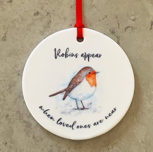 Robins Appear ornament
