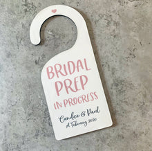 Load image into Gallery viewer, Bridal Prep Door Hanger