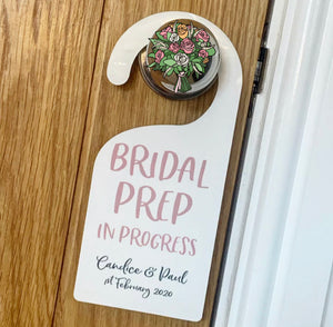 Bridal Prep Door Hanger