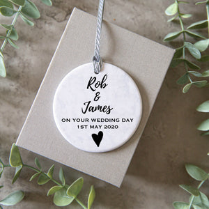 Engagement Wedding Ornament, perfect couples gift